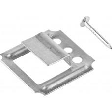 Кляймер 6 мм оцинкованные (упаковка - 100шт) с гвоздями